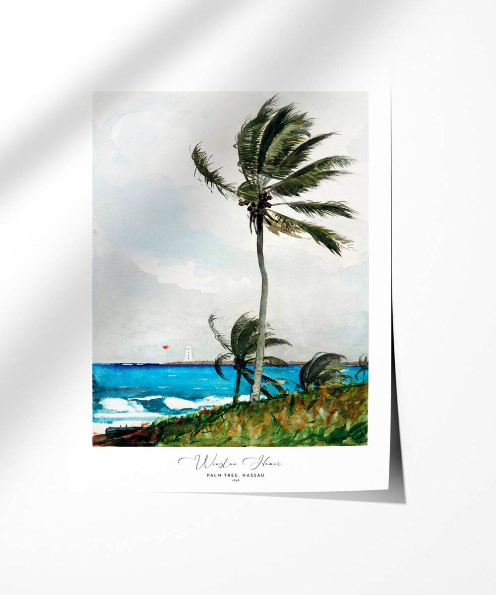 Winslow Homer-Palm Tree-Nassau Poster-Photopaper-Duwart