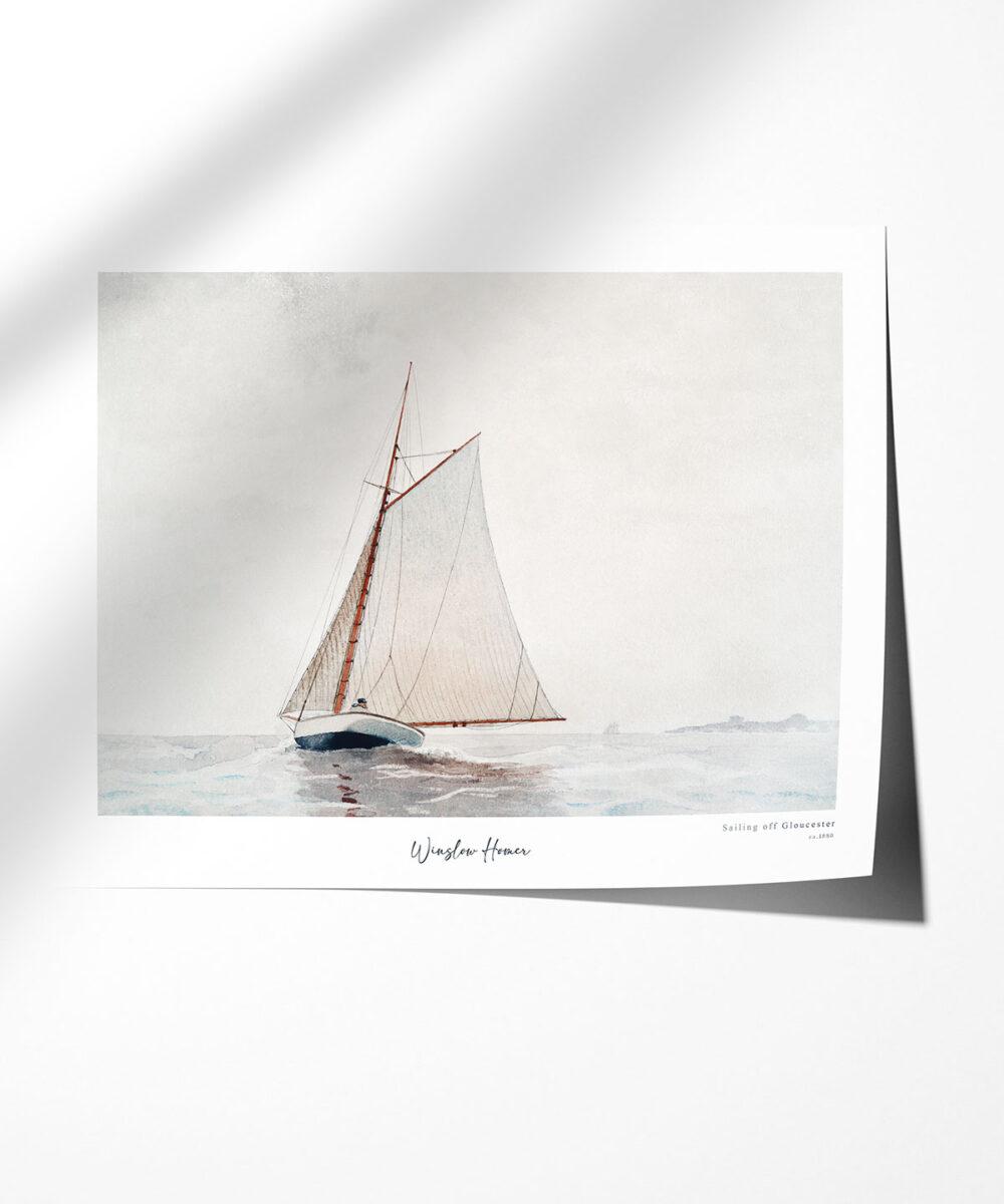 Winslow-Homer-Sailing-off-Gloucester-Poster-Photopaper-Duwart