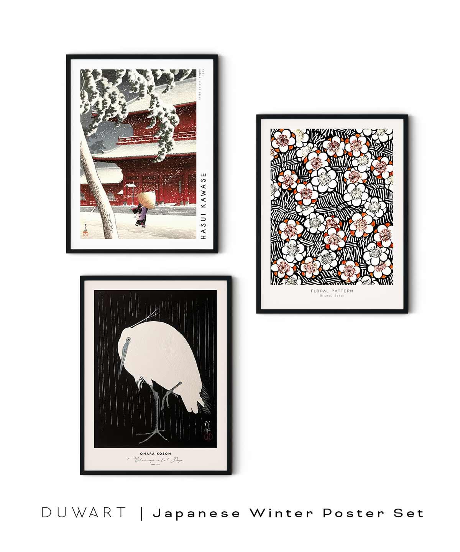 Japanese-Winter-Poster-Set-White-Background-Duwart