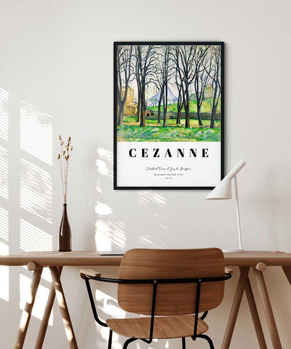 Paul-Cezanne-Chestnut-Trees-at-Jas-de-Bouffan-Poster-Black-Framed-Duwart