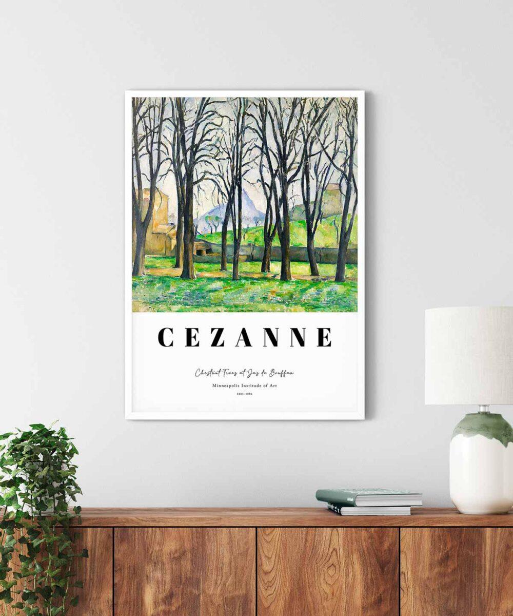 Paul-Cezanne-Chestnut-Trees-at-Jas-de-Bouffan-Poster-White-Framed-Duwart
