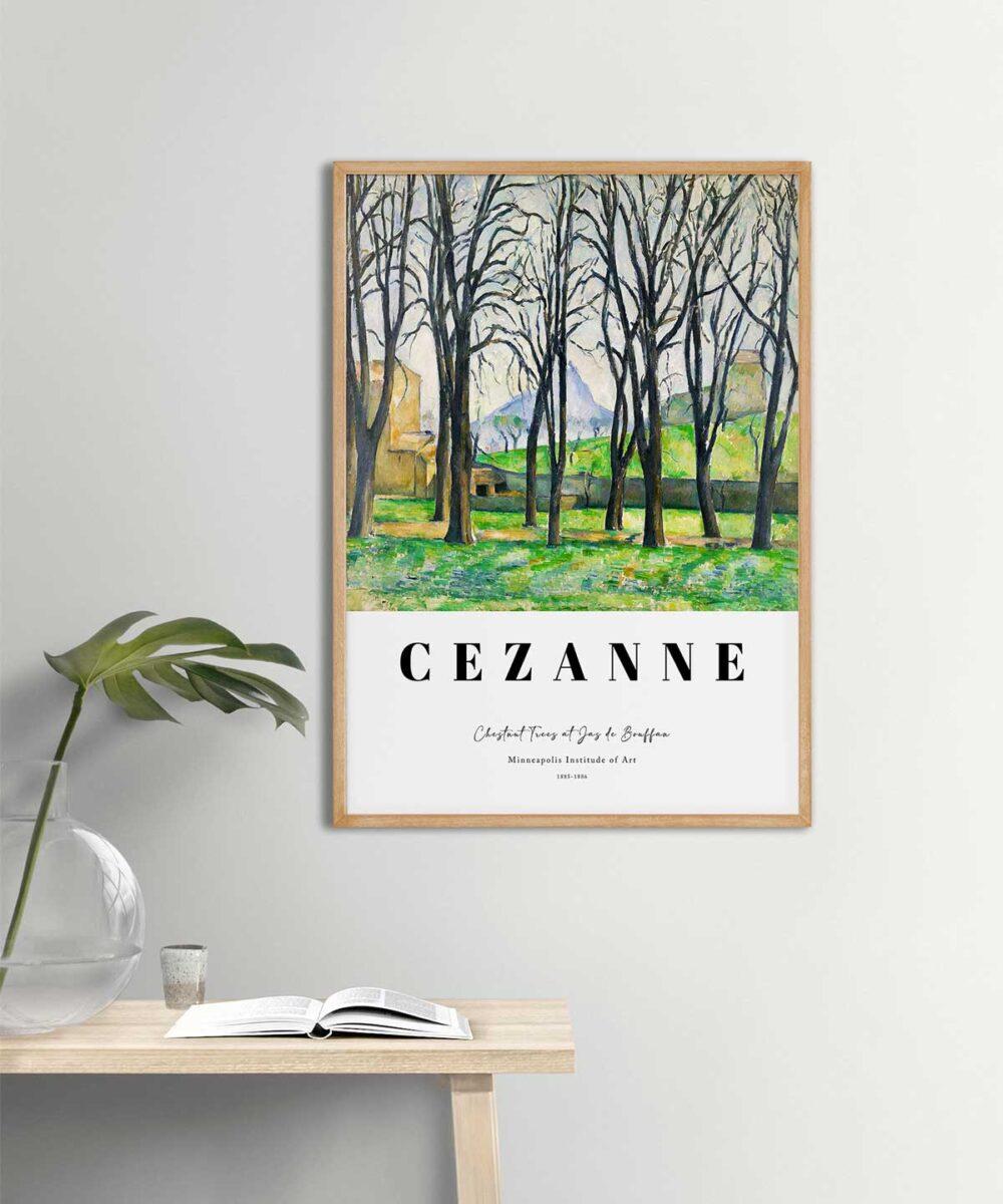 Paul-Cezanne-Chestnut-Trees-at-Jas-de-Bouffan-Poster-Wooden-framed-Duwart