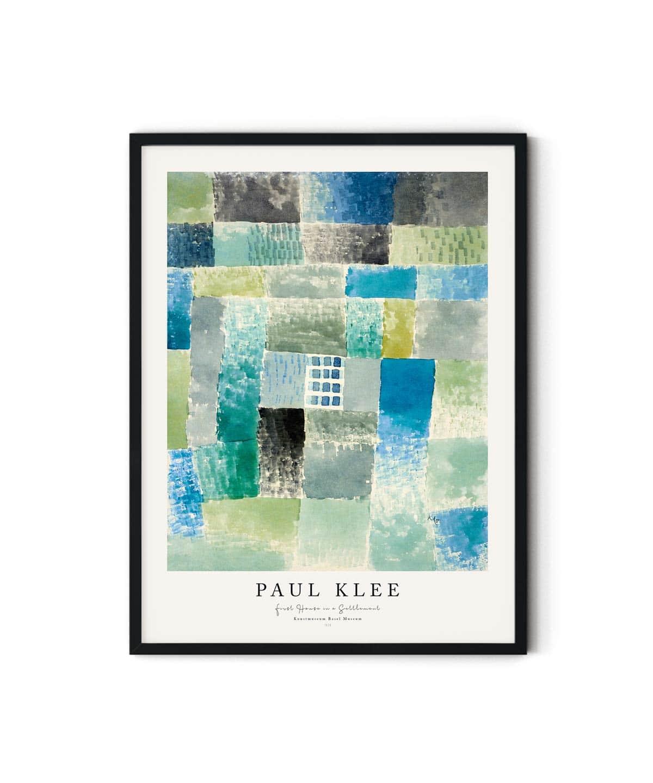Paul-Klee-First-House-in-a-Settlement-Poster-Duwart