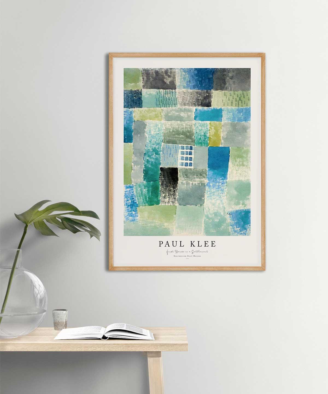 Paul-Klee-First-House-in-a-Settlement-Poster-on-Wall-Wooden-Frame-Duwart