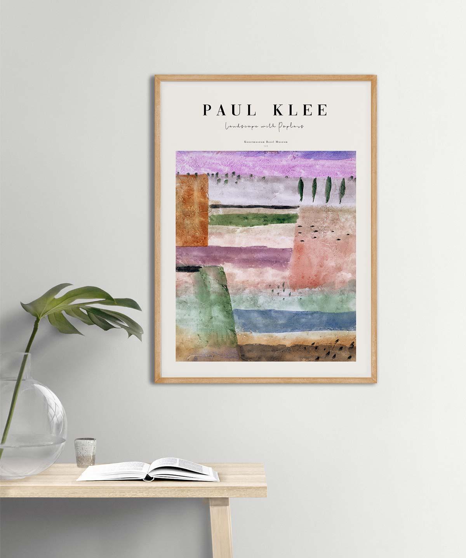 Paul-Klee-Landscape-with-Poplars-Poster-on-Wall-Wooden-Frame-Duwart