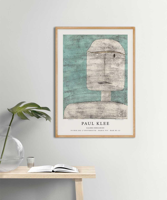 Paul-Klee-Spectre-Dun-Guerrier-Poster-Black-Framed-Duwart