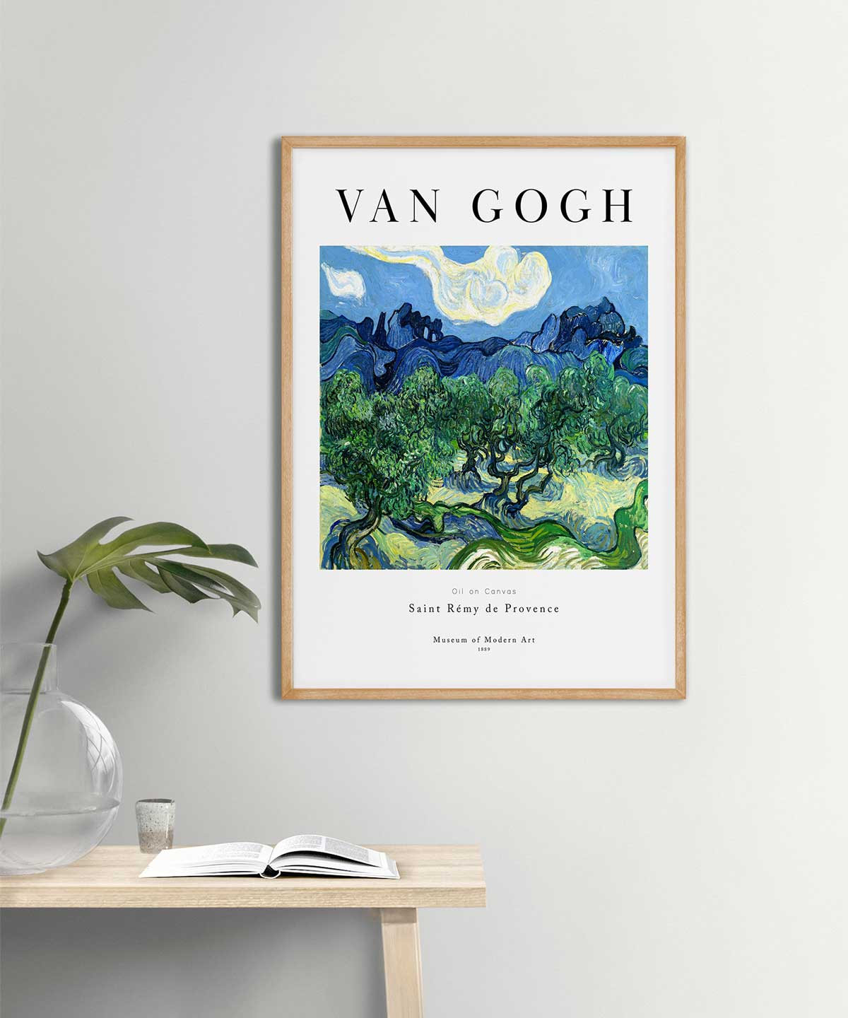 Van-Gogh-Olive-Trees-Poster-on-Wall-Wooden-Frame-Duwart