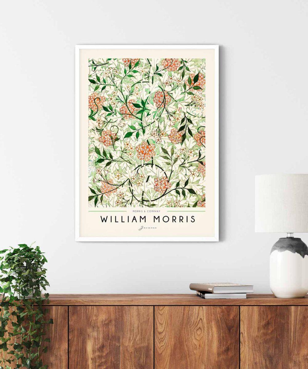 William-Morris-Jasmine-Poster--White-Framed-Duwart
