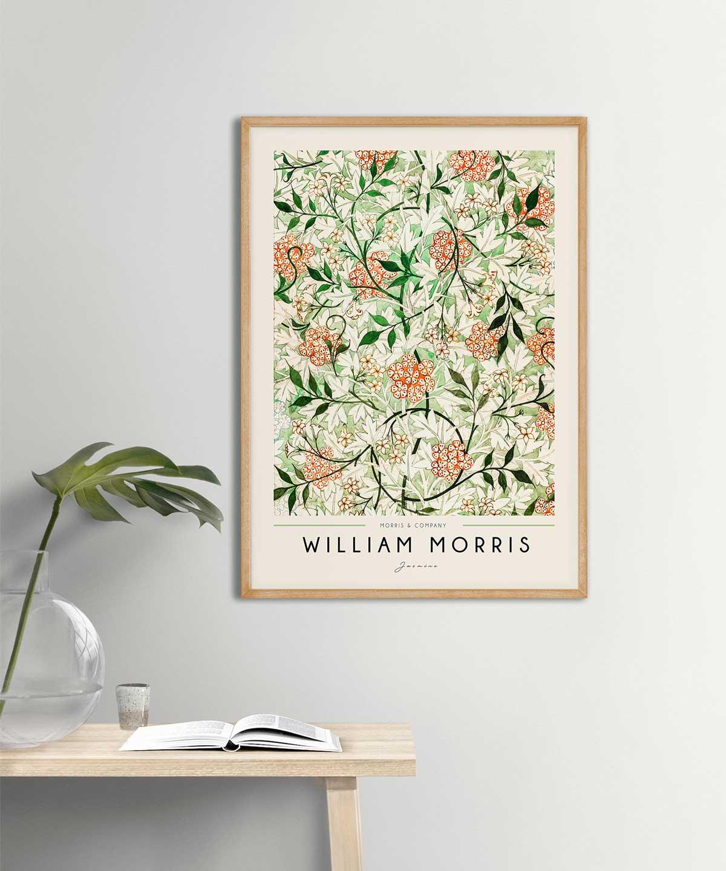 William-Morris-Jasmine-Poster-Wooden-Framed-on-Wall-Duwart