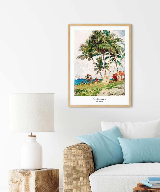 Winslow-Homer-The-Buccaneers-Poster-Wooden-Framed-Duwart